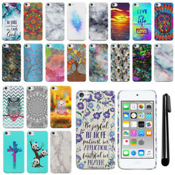 For Apple iPod Touch 5 5th 6th7 7th Gen 2019 HARD Back Case Phone Cover + PEN