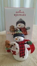 Hallmark 2013 Happy Holiday Friends Snowman Christmas Ornament