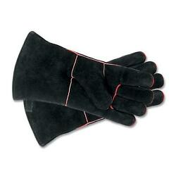 Achla Designs Woodeze 5MM-A-12B Fireplace Gloves - 13 1 - 2 in. - Black