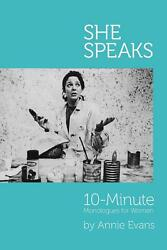 She Speaks by Annie Evans (English) Paperback Book Free Shipping!