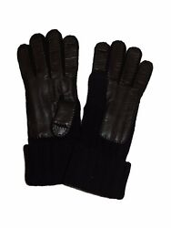 BRIONI Mens Brand New Cashmere Knit Gloves Navy Blue NEW Winter Glove Sz M Italy