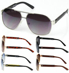 New Mens Womens Designer Fashion Sunglasses Shades Metal Pilot Retro Lion Round