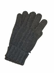 BRIONI Mens Brand New Cashmere Knit Gloves Gray Italy Winter Glove Soft NEW Sz M