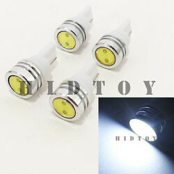 2 Pair T10 161 168 194 2825 2827 LED High Power White Bulbs #Ht3 Ash Tray Light