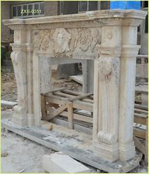 Customize Your Own Size 100% Marble fireplace Mantel 20 modelsPLS ASK PRICE