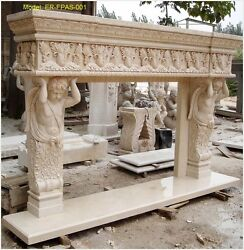 Customize Your Own Size Solid Marble Fireplace Mantel SurroundPLS ASK PRICE