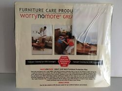 WORRY NO MORE FURNITURE PROTECTION KIT MICROFIBER LEATHER WOOD CARE UNITERS NIB