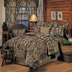 REALTREE AP CAMO CAMOUFLAGE BEDDING COMFORTER SET - SHAMS SKIRT