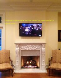 Custom-made mantel installed in buyer's home! Own Size Marble Hand Carved Mantel