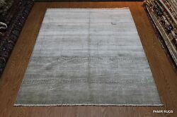 Handmade Gray Rug Hand-knotted Fine Quality Made out of Vegetable Dyed Wool