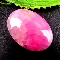 P5215 Beautiful rose red oval Dragon Veins Agate CAB cabochon 25x18x7mm