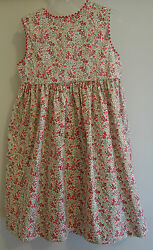 *New WTags* Bella Bliss Red Floral Garden Button Back Jumper Dress ~ 24 Month