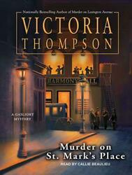 Murder on St. Mark's Place by Victoria Thompson (English) Compact Disc Book Free