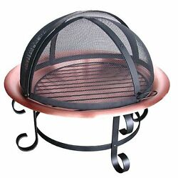 Landmann 28472 Scroll Series 30in Copper Fire Pit with Spark Guard New