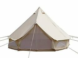 Diameter 4m Outdoor Luxury Cotton Canvas Family Camping Bell Tents w Stove Hole