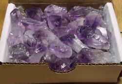 Amethyst Points Collection 1 2 Lb Natural Dark Purple Crystals Brazil $21.95