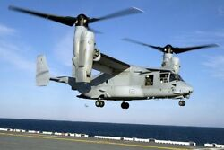 V 22 OSPREY HELICOPTER ON LHD 1 USS WASP 8x12 SILVER HALIDE PHOTO PRINT $14.99