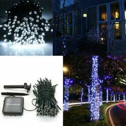 100 LED Solar Power Fairy Light String Lamp Party Xmas Garden Outdoor Cool White $8.85