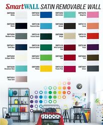48quot; x 10 yds SmartWall 3mil Matte Satin Wall Removable Vinyl Film Craft Hobby $60.99