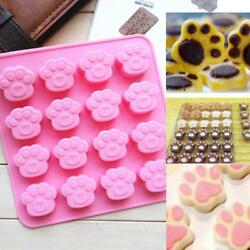 Dog Cat Paw Print Silicone Cake Mold Candy Chocolate Mold Soap Ice Cube Mould Y