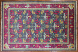 Arts & Crafts Hand Knotted Modern Area Rug 12 X 18 - P3933-1123