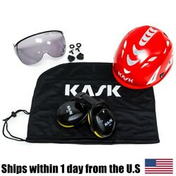 Kask  Arborist Tree Climbing Hi-Viz Red Super Plasma Helmet Visor Bag Ear Muffs