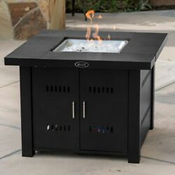Outdoor Fire Pit Table Cover Deck Heater Propane Fire Burner LG Gas 40000BTU