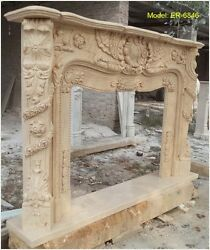 Customize Your Own size NATURAL marble fireplace mantel Surround PLS ASK PRICE