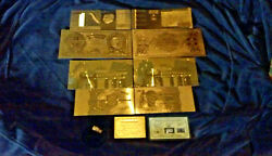 ☆LOT~7Pc.LOT-SILVER BAR+4 AMAZING ☆ REP.*GOLD☆ FOREIGN BANKNOTES $21.78