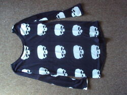 SKULL PATTERN BUTTON BACK  JUMPER TOP SIZE LARGE BNWT FREE UK POST