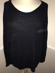 Repeat 100% Merino Wool Jumper Button Back UK Size 14 Worn once
