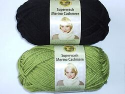Lion Brand - Superwash Merino Cashmere Yarn - Choice of 2 Colors - new