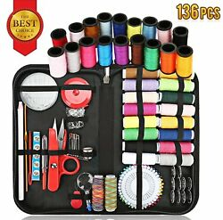 Sewing Kit Sewing Supplies Kit for All Sewing Purpose with Total 136 Premium