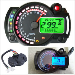 15000rpm 7-Color Backlight Motorcycle ATV LCD Digital Speedometer Tachometer Kit $41.27
