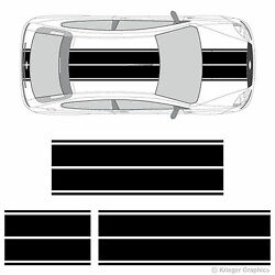 Dual Rally Racing Stripes 3M Vinyl Double Stripe Decals for Ford Focus $59.95