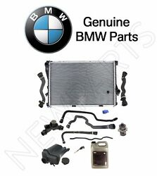For BMW E39 Radiator Water Pump Hoses Expansion Tank Antifreeze Genuine Kit