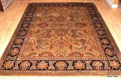 9x12 Top quality wool handmade quality hand knotted brown Money Back Guaranteed