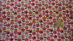 Cotton Fabric SHADES OF BRIGHT PINK amp; RED FLOWERS 1 Yd 44quot; $9.99