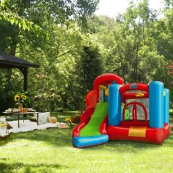 XtremepowerUS outdoor Kids Inflatable Bouncer House Play Center w air Blower