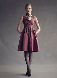 NWT Banana Republic The Mad Men Collection Burgundy Cocktail Betty Dress 2 $152.99