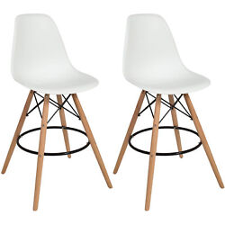 Best Choice Products Eames Style Set Of 2 High Chair Bar Stools