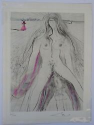 DALI La Venus Fourrures Woman on Horse  H Signed Etching Dali Archives Certified