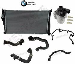 For BMW E82 E88 E90 E92 Automatic Radiator+Hoses Water Pump Cooling Kit Genuine