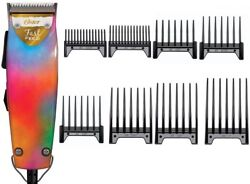 Oster Fast Feed Vibrant Colors Limited Edition Professional Clipper + 8-PC Combs $89.99
