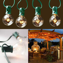 10x 100 Foot G40 Outdoor Lighting Patio Party Globe String Lights-125 Clear Bulb