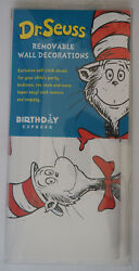 New DR SEUSS Removable Wall Decorations Stickers scrapbook Thing 1 2 $21.50