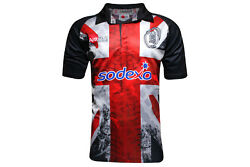 1b67d0c90c0 Samurai Mens British Army Union Flag 2015 Rugby Shirt Black Top Sport  Activewear