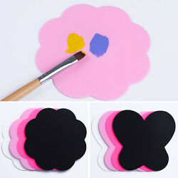 2Pcs Silicone Paint Palette Mat Butterfly Plum Blossom Washable Nail Art Pad