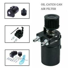 Universal Oil Catch Reservoir Breather Can Tank +Filter Kit Cylinder Engine