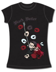 Black Butler Spears & Grell T-Shirt (Junior) *NEW*